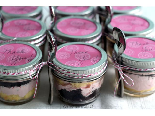Cake Jars for Party Giveaways and more!