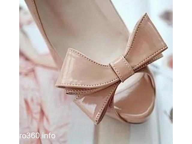 Sweet Bowknot Pointed Toe Thin Heels Shoes